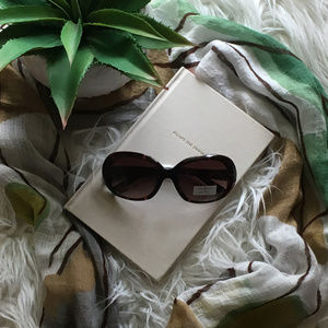 NEW Cole Haan C 698 21 Tortoise Oval Sunglasses